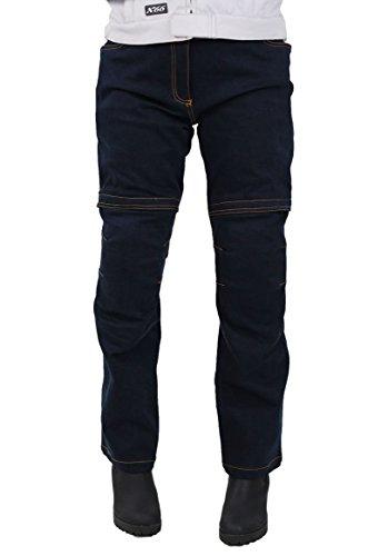 Nerve Ata dames motorfiets jeans broek 36 EU donkerblauw