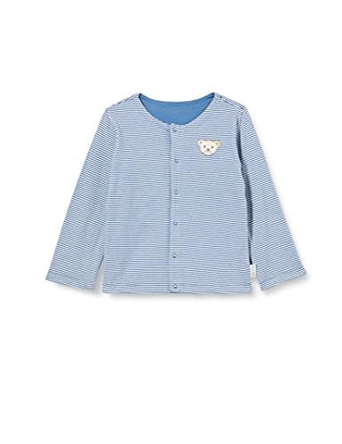 Steiff Unisex Baby Sweatjacke GOTS, Coronet Blue, 074