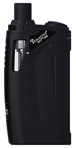 Teslacigs E-Zigarette AIO 70W Starter-Kit Akkuträger 4,5ml Tank (Schwarz)