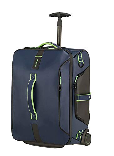 Samsonite Paradiver Light Duffle/WH 55 Backpack with Backpack Function Night Blue/Fluorescent Green