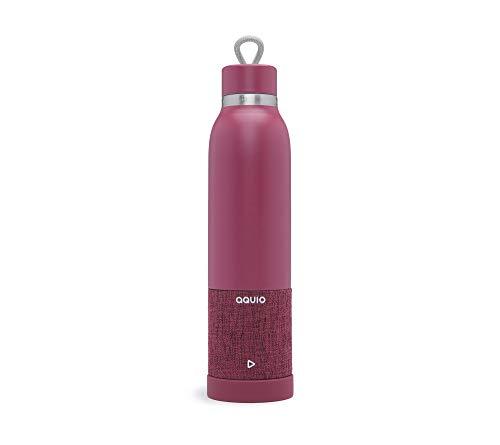 iHome iBTB2UU Trinkflasche mit Bluetooth Lautsprecher, Merlot, One Size