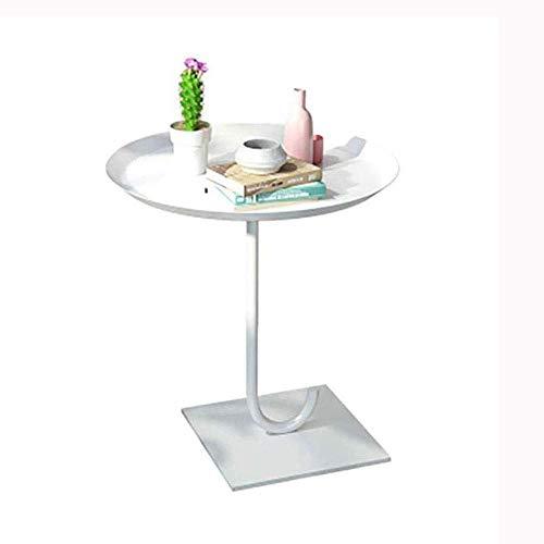 Productos para el hogar Mesa auxiliar redonda Sofá Mesa Bandeja Mesa auxiliar Mesa para refrigerios Metal Antioxidante Uso en interiores y exteriores para poner cosas pequeñas Uso múltiple (Color: