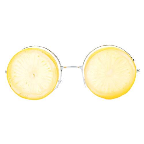 BESTOYARD Sonnenbrille Lustige Zitrone Makeup Brille Dance Party Brillen für Party (Gelb)