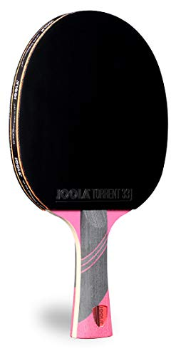 JOOLA Omega Speed  Table Tennis Racket for Advanced Training with Flared Handle  Tournament Level Ping Pong Paddle with Torrent 33 Table Tennis Rubber Designed for Speed