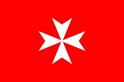 magFlags Flagge: Large Sovrano Militare Ordine di Malta | Querformat Fahne | 1.35m² | 90x150cm » Fahne 100% Made in Germany