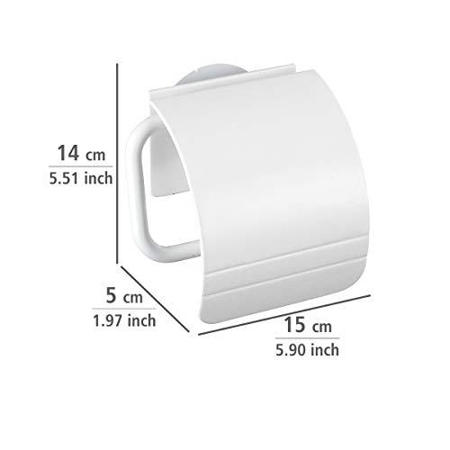 Wenko Toilet paper holder wall mount in White