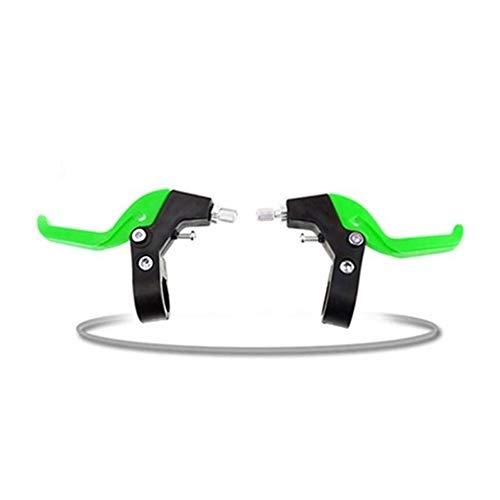 BSSTHD 1 par de manijas de Freno de Bicicletas for niños, Bicicletas de niños de la Palanca de Freno de Acero Material plástico, Accesorios de la Bicicleta Freno de Mano (Color : Green)