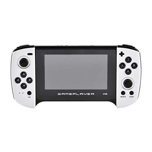 SNOWINSPRING Consola de Juegos PortáTil X18 Joystick Dual HD de 4.3 Pulgadas Pantalla Grande Consola de Videojuegos Retro Compatible con Descarga en LíNea