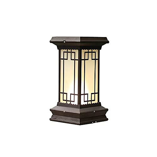 ZZYJYALG Solar Post Lights Outdoor 2 Luminous Colors Waterproof Aluminum Glass Light for 4x4 5x5 and 6x6 Post in Deck Walkway and Garden Decoration (Black)