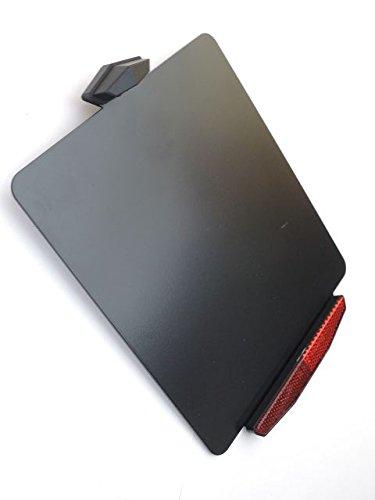 Kennzeichenhalter ''FIGHTER-LIGHT' Kennzeichenbeleuchtung und Rückstrahler alles in LED, ALU schwarz, sehr edel