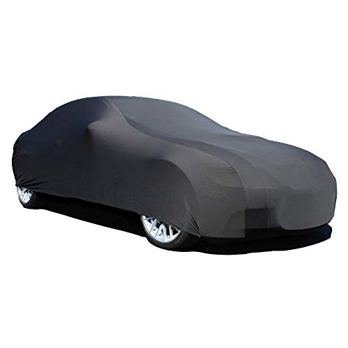 Stretchable Indoor Black Satin Car Cover for Aston Martin Rapide 2011-2019