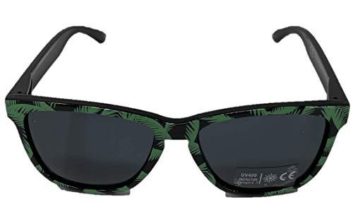Bacardi Sonnenbrille mit Palmenmuster Brille grün UV400 Unisex für Partys Festivals und dem Sommer 1er Pack