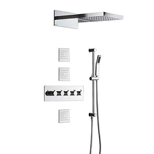 Fantastic Prices! Tyannan in-Wall Concealed Shower Head Accessories Constant Temperature rain Shower...