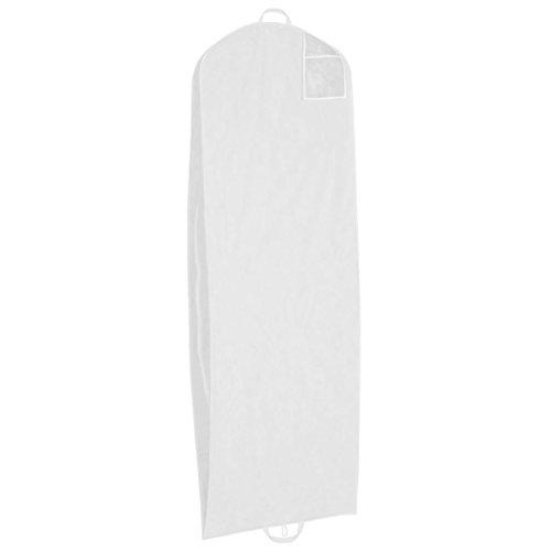 homestyle4you Kleidersack Atmungsaktiv Brautkleid weiß neu Brautkleidhülle 2m groß Hochzeit