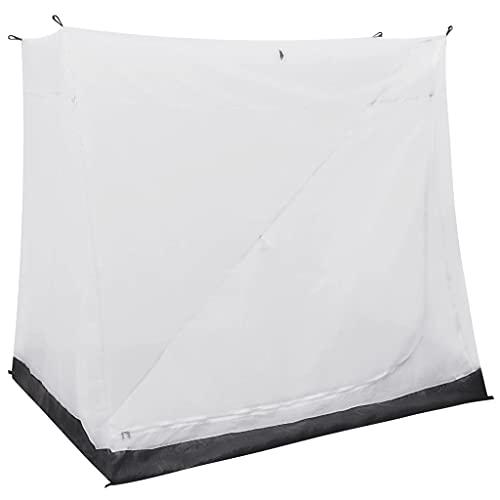 vidaXL Tente Universelle d'Intérieur Auvent Caravane Robuste Durable et Résistant à l'Eau Ajouter une Zone de Couchage Gris 200x180x175 cm