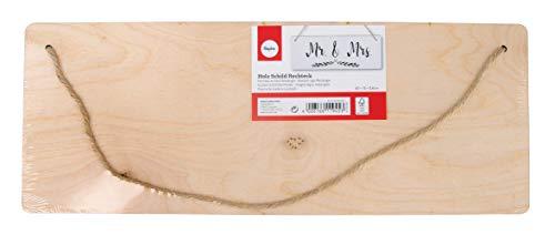 Rayher 62849505 Panneau en bois Rectangle, FSC100%