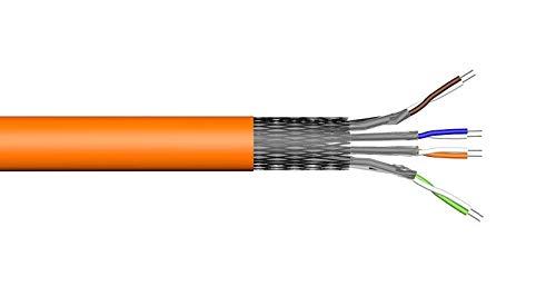 LAN Kabel Ethernet Kabel Simplex in verschiedenen Längen, Cat7 Verlegekabel, Halogenfrei, 10m/50m/100m, STP 4X2XAWG23 PIMF/FRNC (100 Meter Simplex Ethernetk. STP4X2XAWG23PIMF/FRNC)