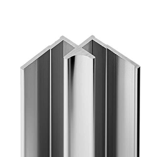 Schulte Decodesign Eckverbinder in Ecke 255 cm Aluminium für Wandverkleidungen D1901325 01