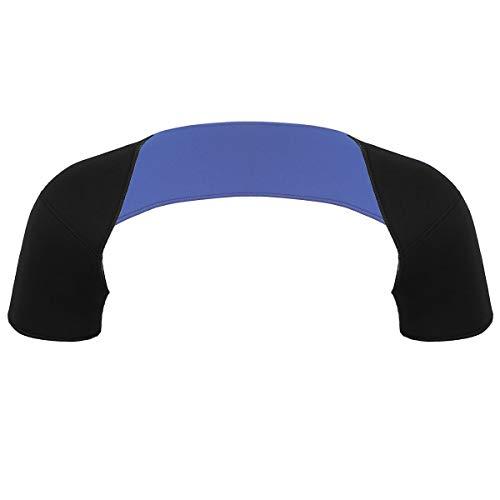 YiZYiF Double Shoulder Brace Warm Support Belt Shoulder Stability Compression Sleeve Wrap Pad for Outdoor Sports Shoulder Pain Relief Black L