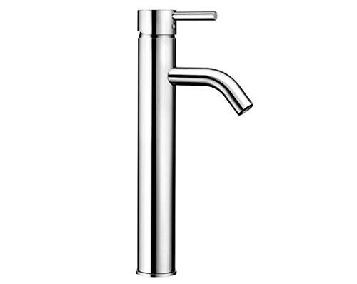 Blanco MAJA-WT, Waschtischarmatur, Einhebelmischer für Badezimmer, Wasserhahn für Bad-Waschbecken, Oberfläche chrom - mit Push-Open-Ablaufgarnitur