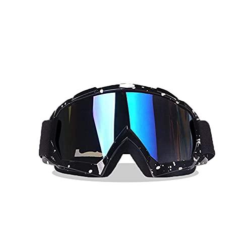 Lacotis Dirt Bike Occhiali da Sole di Protezione, Dirt Bike Wrap Occhiali Protettivi Occhiali di Sicurezza Occhiali da Sci, Occhiali da Sci Occhiali da Esterno Antivento Occhiali da Neve UV -Nero