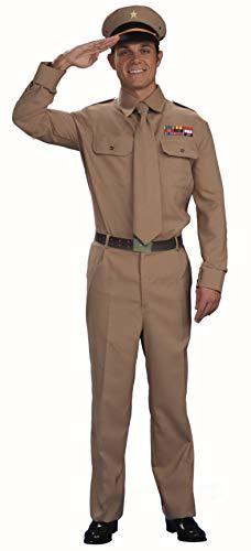Forum Novelties Herren World War II General Costume Kostüme für Erwachsene, braun, Standard
