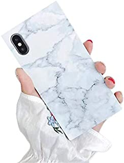 Cocomii 正方形 大理石 iPhone XS Max ケース, 薄型 光沢 柔軟 TPU シリコン ラバー ゲル トランク ボックス スクエア エッジ ファッション 電話ケース バンパー カバー Apple iPhone XS Max 6...
