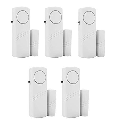 KADDGN Tür-Fenster-Alarm, Fenster Alarm-Sensor, super laut 90dB, für Lagerhaus RV Sicherheits-Tür-Fenster-Warnung 5er-Pack