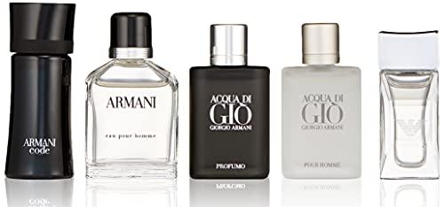 ARMANI by Giorgio Armani Gift Set -- Travel Set Includes Armani Code, Emporio Armani Diamonds, Acqua Di Gio, Armani and Acqua Di Gio Profumo / -- (Men)