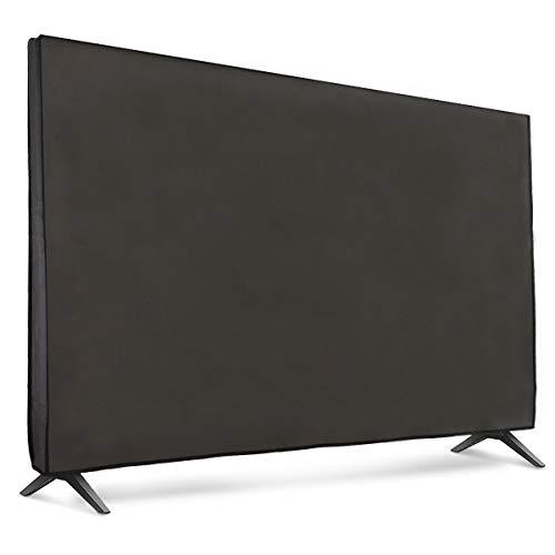 """kwmobile Funda Compatible con Monitor 65"""" TV - Cubierta Protectora Textil para Pantalla - Gris Oscuro"""