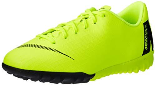Nike Unisex-Kinder Jr. MercurialX Vapor XII Academy GS Turf Fußballschuhe, Schwarz (Volt/Black 701), 36 EU