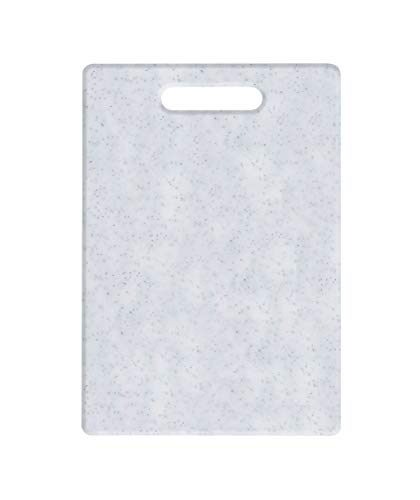 EUROXANTY Granite Effect Cutting Board | Elegant Design Polyethylene Board | Food Cutting Board | Board Thickness 8 mm | White 30 x 20 cm