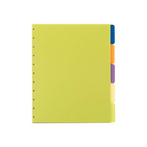 Staples? Arc Notebook Poly Index Dividers, Letter-Sized, Assorted Colors, Set of 5