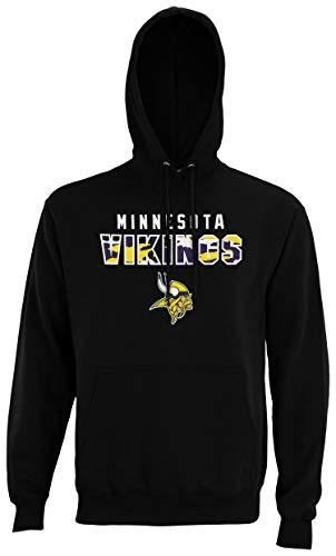 Zubaz NFL Men's Block Logo Hoodie, Minnesota Vikings Large