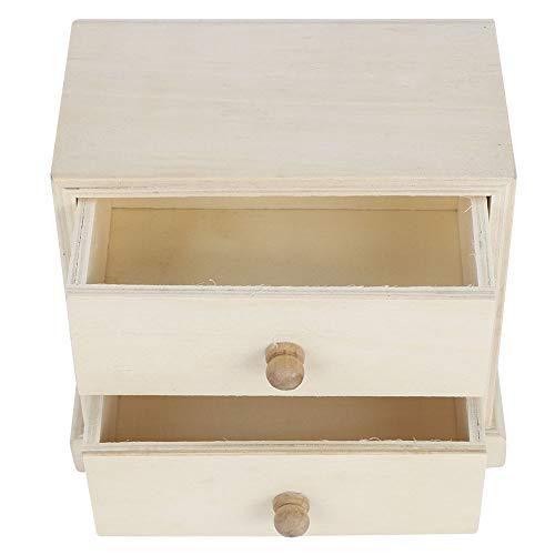 Jopwkuin Caja de Almacenamiento organizadora de Escritorio, Organizador de cajón de Maquillaje Simple de Madera con cajones para Suministros de Oficina Artículos...