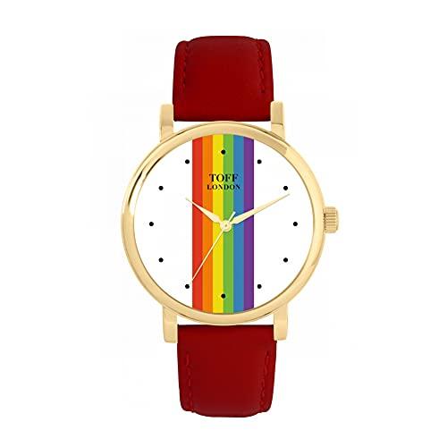Toff London Reloj Pride Linear con Lunares Blancos