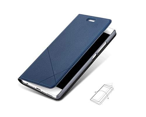 Bubunix Hua Wei Honor 8 Flip Case Hülle, Honor 8 Handyhülle, Geschäfts Art Leder Schlag Schutzhülle Tasche for Huawei Honor 8 - 5