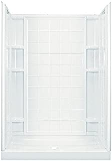 STERLING 72130100-0 Plumbing Ensemble 60-Inch by 35-1/4-Inch by 77-Inch Shower Stall, White
