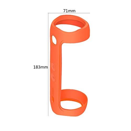 DEtrade Audio Engagiert Silikon Schutzhülle Weiche Silikonhülle Tasche Für Jbl Flip 5 Wireless Lautsprecher Stoßfest Hülle (Orange)