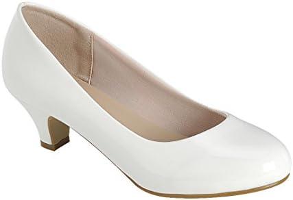 Round toe pumps low heel _image2