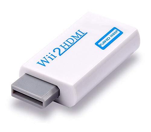 Adattatore da Wii a HDMI, connettore convertitore Wii a HDMI con uscita video Full HD 1080p/720p e audio da 3,5 mm, supporta tutte le modalità di visualizzazione Wii