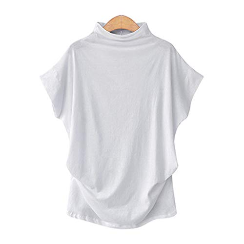 x8jdieu3 Sommer Damen Rollkragenpullover Top Fledermaus Ärmel Kurzarm T-Shirt Lady Top Weste