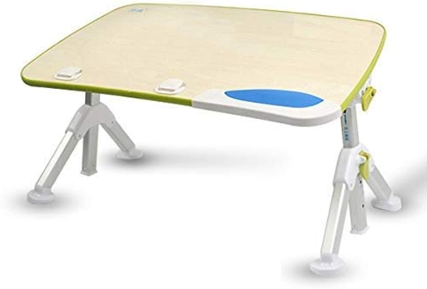 Bed Desk, Multi-Function Large Computer Desk, Foldable Student Desk, Heightened Lazy Bed Table, Dormitory Single Mobile Notebook Electric Table (color   Olive Green, Size   Small)