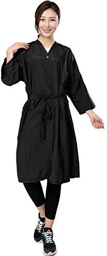 Camice protettivo stile kimono con chiusura automatica per clienti di saloni da parrucchiere