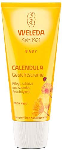 WELEDA Calendula Gesichtscreme, Naturkosmetik Feuchtigkeitscreme zur Pflege von trockener und empfindlicher Haut, Schutz vor Austrocknen und Unreinheiten (1 x 50 ml)