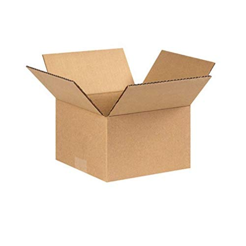 100 cajas de cartón para envío por correo, 20 x 15 x 10 cm, duraderas y perfectas para cualquier negocio en línea, precio de descuento a granel, Kraft (marrón)