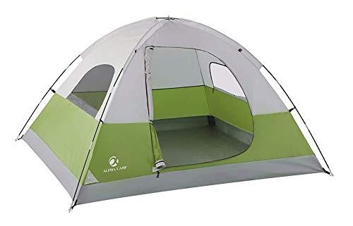ALPHA CAMP Kuppelzelt 3-4 Personen, Campingzelt Festival Wasserdicht