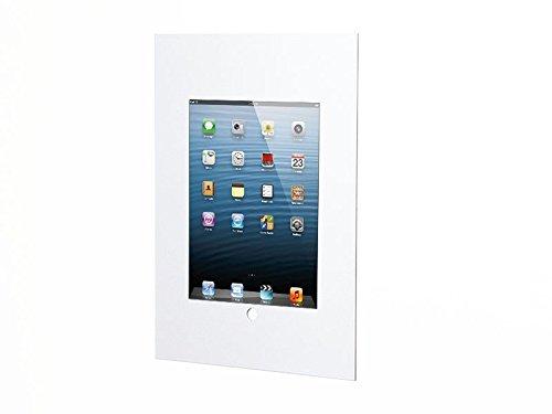 TabLines TWE018W Wandeinbau für Apple iPad Mini 4 im Querformat mit Homebutton weiß