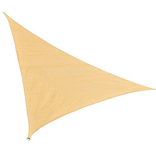 Red de sombrilla amarilla de arena, hecha de malla HDPE Bloqueador solar para Patio Jardín 3 * 3 * 3M