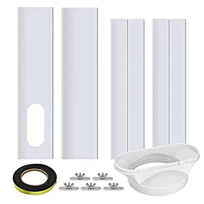 Today's Air Conditioning Window Sealing Plate Kit Adjustable Length Window Ventilation Kit for Sliding Windows, Window Baffle Adjustable Length 67-220cm, Flat Mouth Interface 130mm